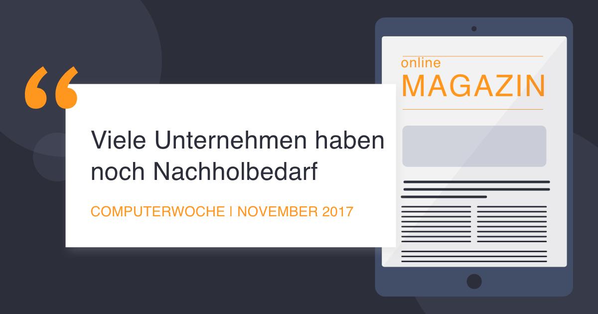 COCUS in der Computerwoche November 2017
