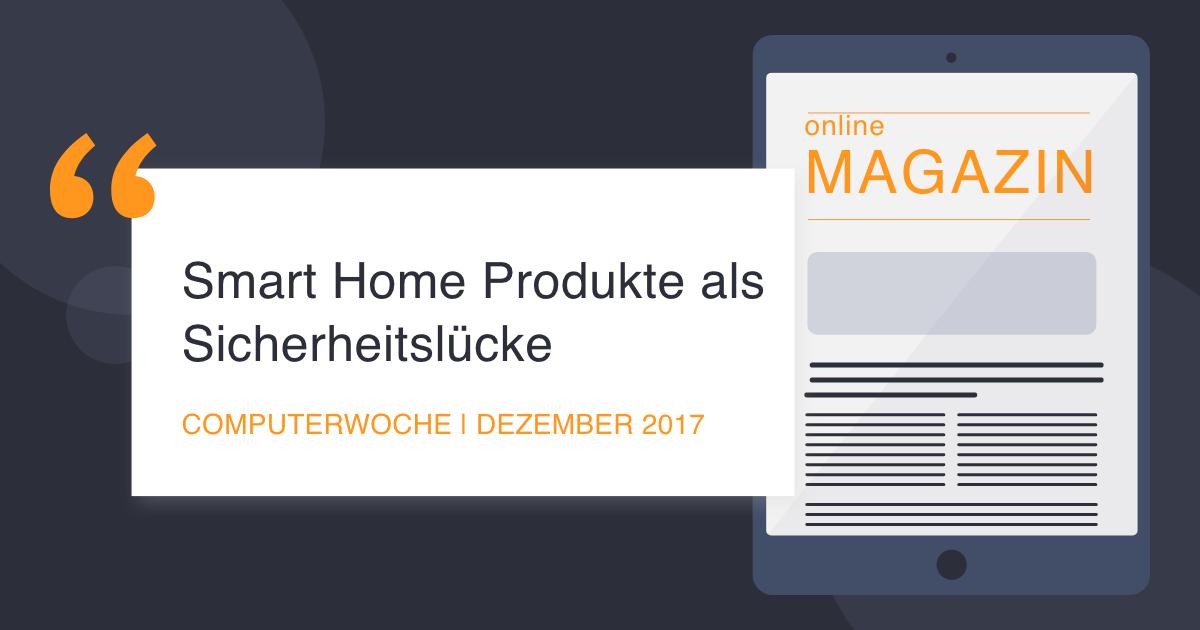 COCUS in Computerwoche December 2017 Smart Home