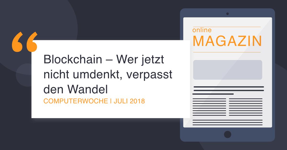 COCUS in der COmputerwoche Juli 2018 Wandel