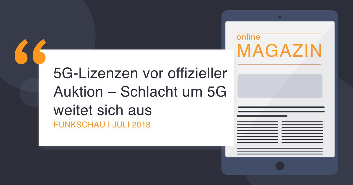 COCUS in Funkschau July 2018 5G licenses