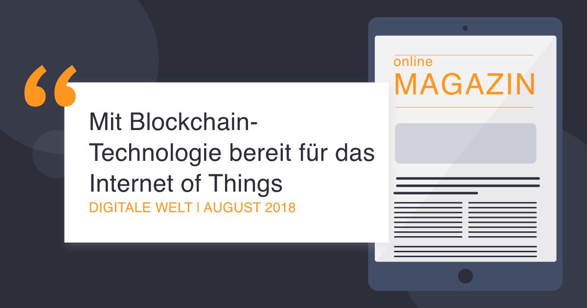COCUS in der digitale Welt August 2018 Blockchain-Technologie