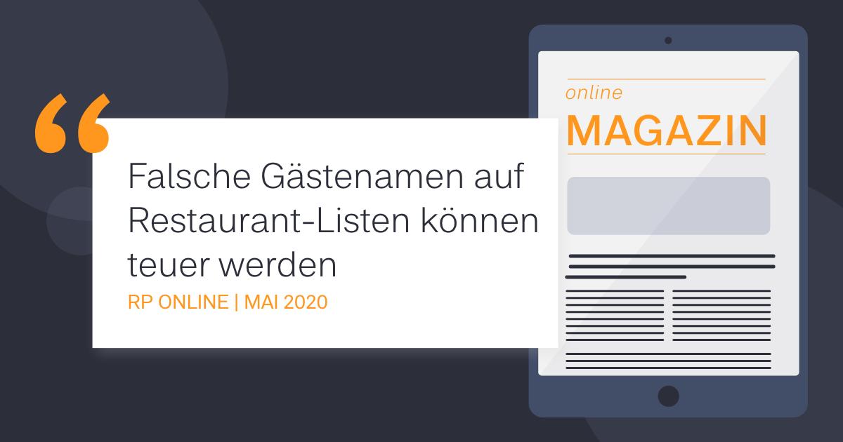 Falsche Gästenamen auf Restaurant-Listen können teuer werden - COCUS in der RP Online