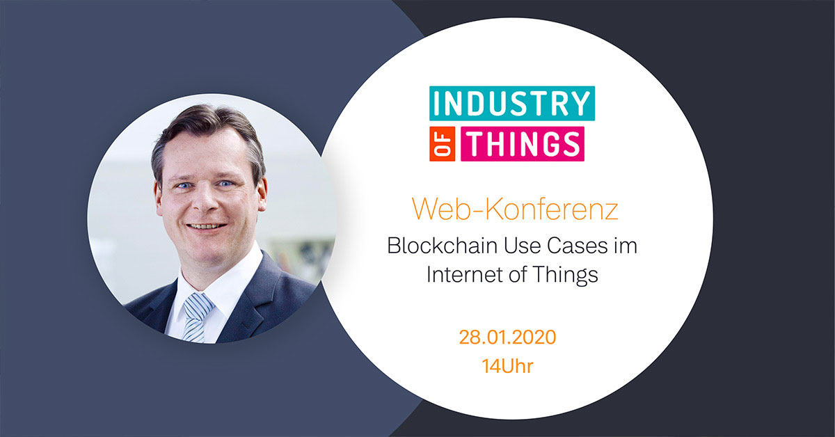 Sascha Hellermann bei der Web-Konferenz von Industry of Things