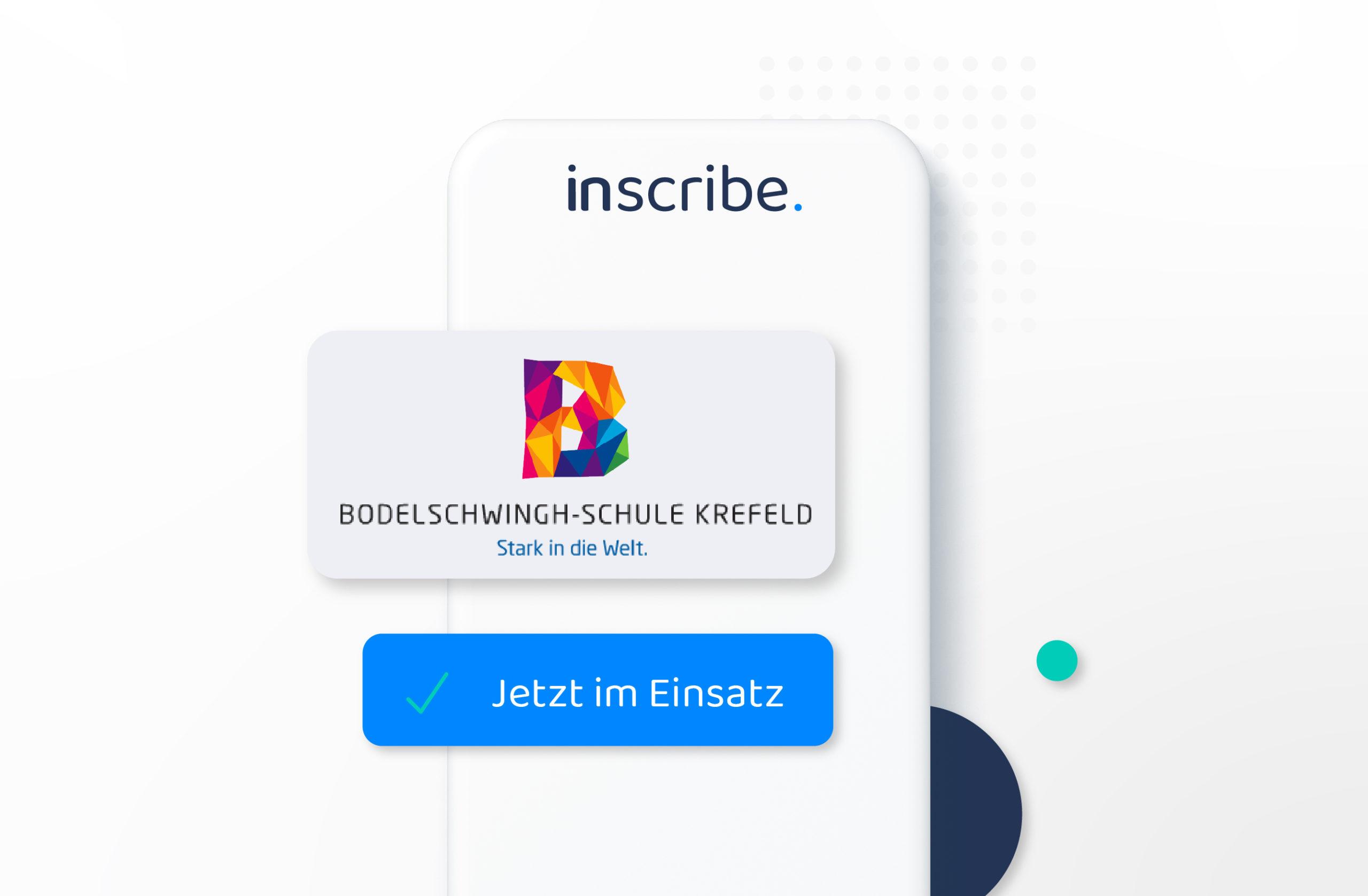 Digital attendance list Inscribe in use at Bodelschwingh School