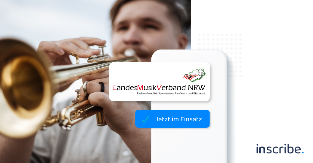 The LandesMusikVerband NRW uses Inscribe as a digital attendance list