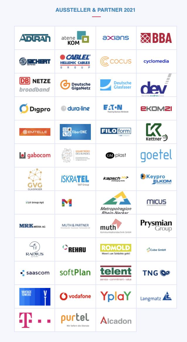 Die Aussteller auf dem Gigabitgipfel Hessen 2021
